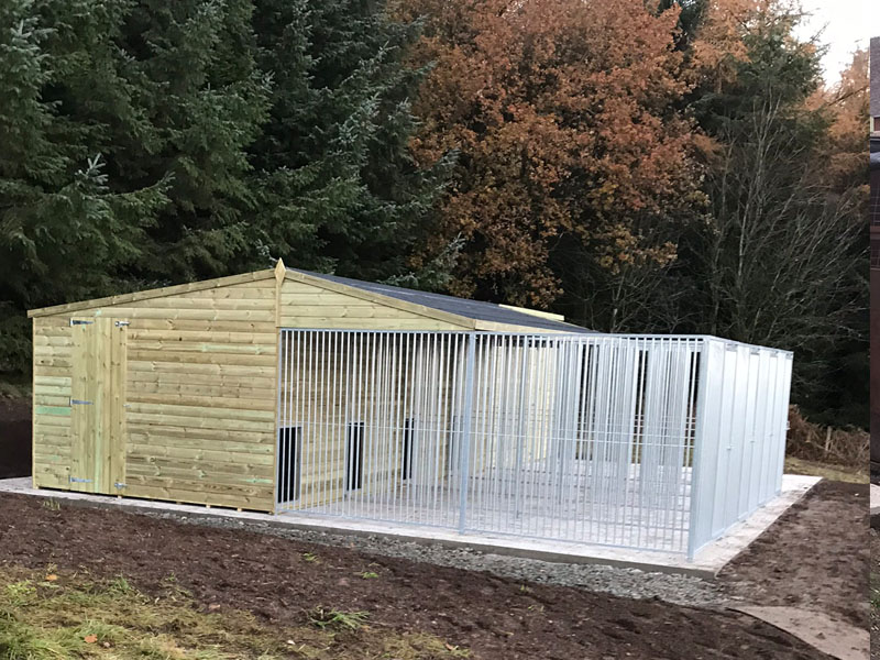 Bespoke Kennel Block With Extended Dog Runs