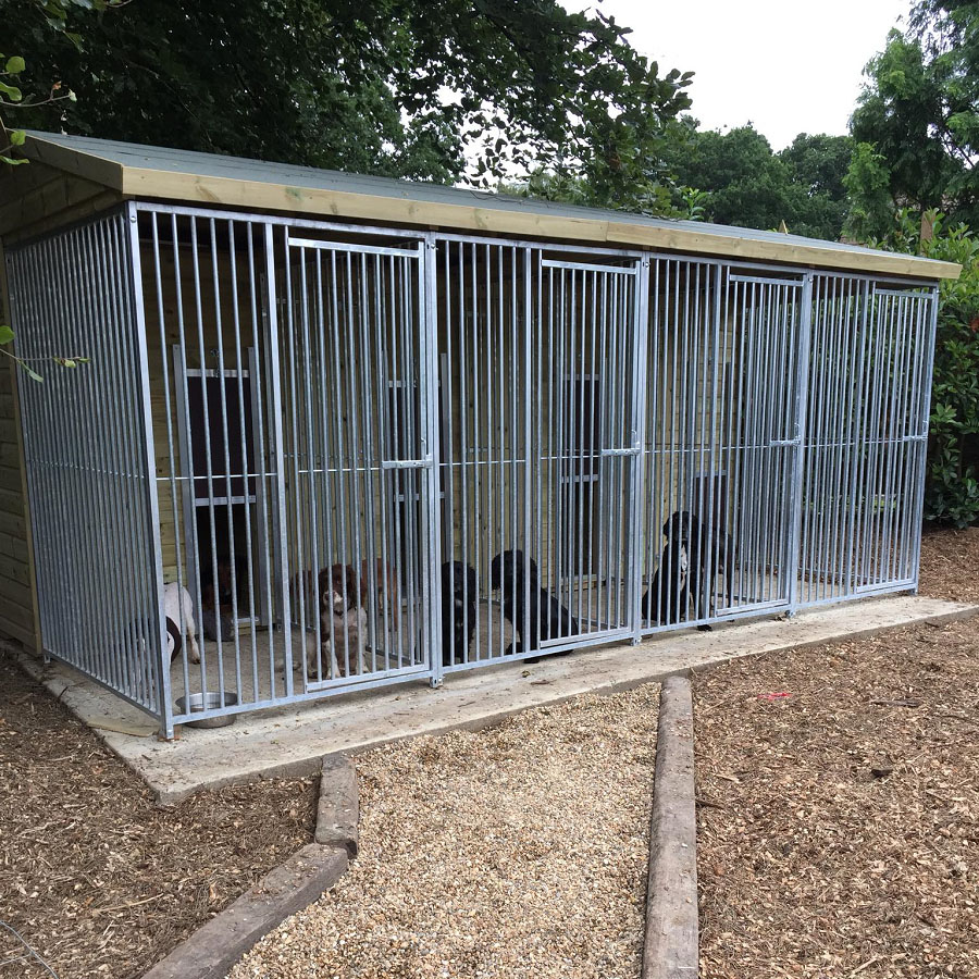 Dog Kennel Block with Extended Runs