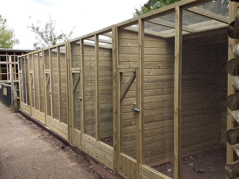 Aviary Block at Gentleshaw Wildlife Centre